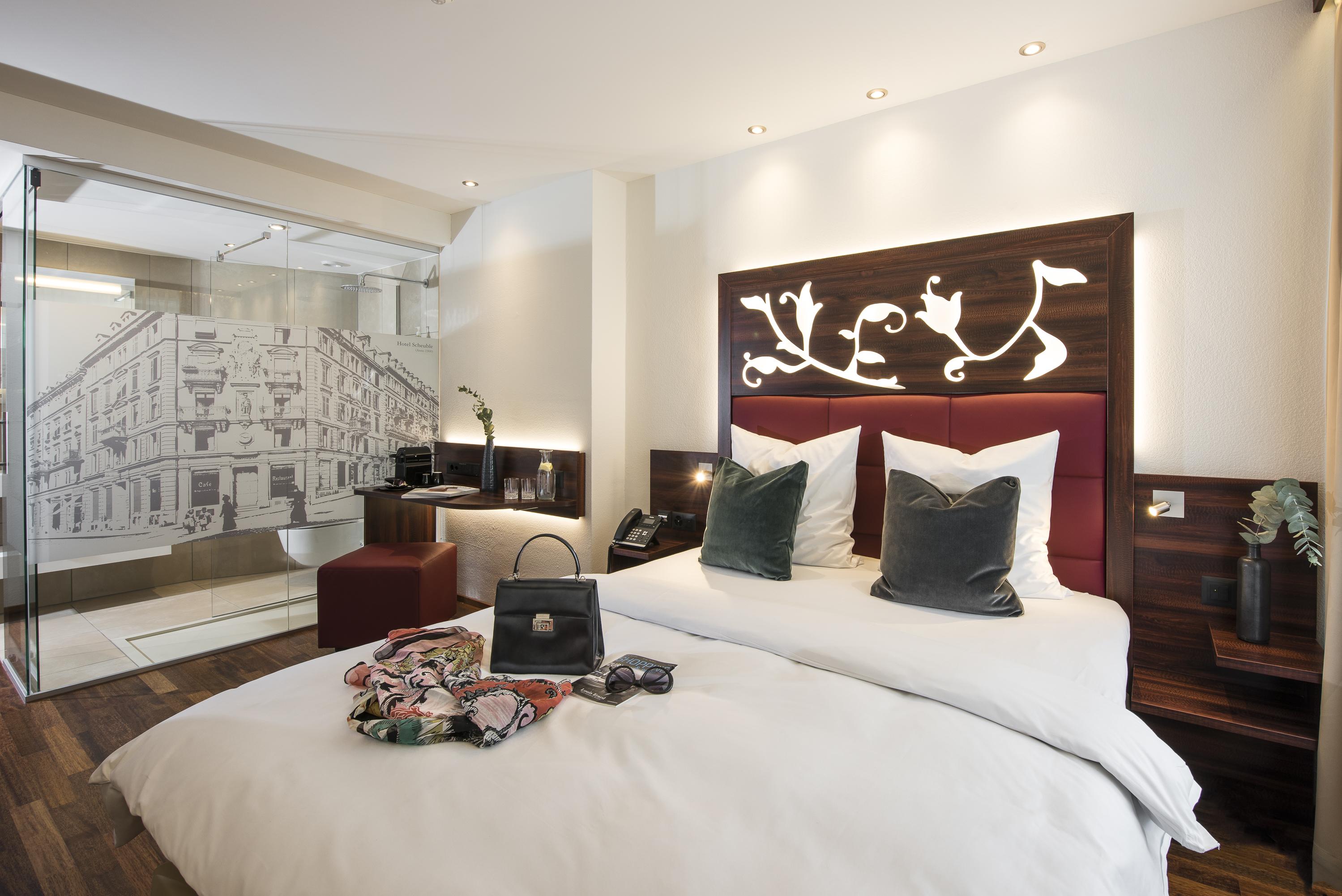 Hotelzimmer bei Scheuble