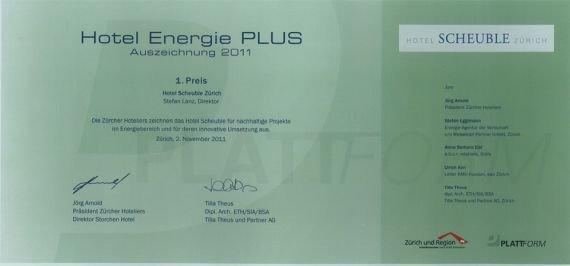 Hotel Energie Plus Auszeichnung 2011